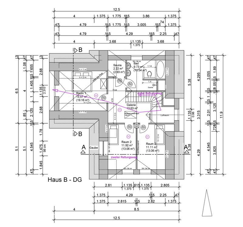 Haus B Grundriss Obergeschoss