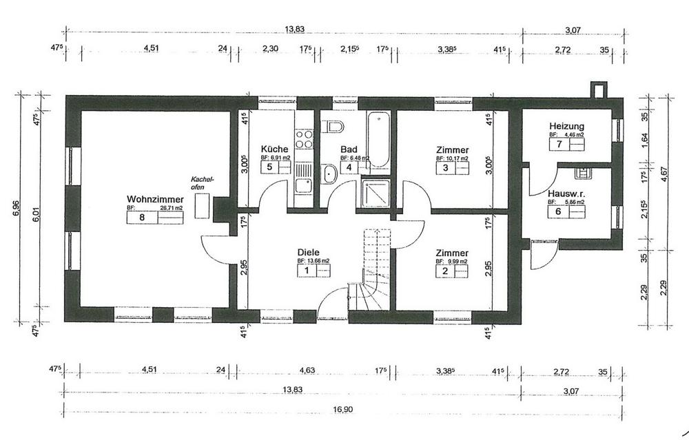 Grundriss Erdgeschoss A